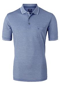 OLYMP modern fit poloshirt, blauw melange