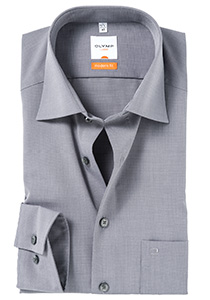 OLYMP Luxor Modern Fit overhemd, grijs (Fil a Fil)