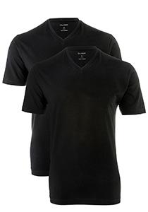 OLYMP t-shirts (2-Pack), V-Hals, zwart