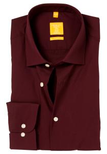 Redmond modern fit overhemd, bordeaux rood