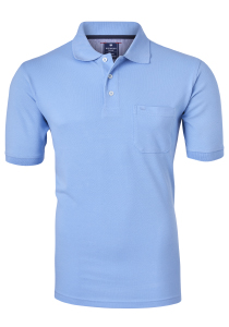 Redmond Regular Fit poloshirt, lichtblauw