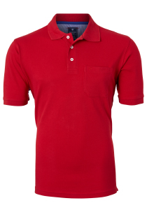 Redmond Regular Fit poloshirt, rood