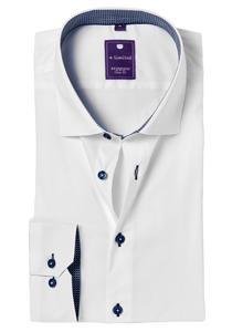 Redmond Slim Fit overhemd, wit (contrast)