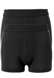Actie 2-pack: Schiesser Cotton Stretch, heren shorts, zwart
