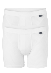 SCHIESSER Authentic shorts (2-pack), met gulp, wit