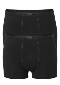 SCHIESSER Cotton Essentials shorts (2-pack), zwart