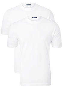 SCHIESSER American T-shirts (2-pack), O-hals, wit