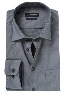 Seidensticker regular fit overhemd, grijs fil a fil