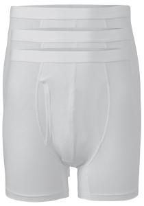 ten Cate Basic boxershorts (3-pack), heren boxers lang met gulp, wit