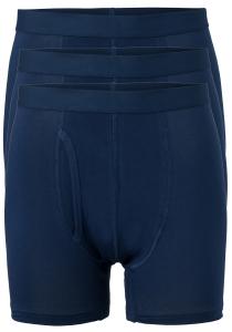 ten Cate Basic boxershorts (3-pack), heren boxers lang met gulp, blauw