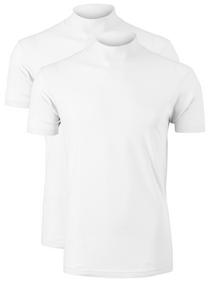 VENT wijd model T-shirt turtleneck (2-pack), wit