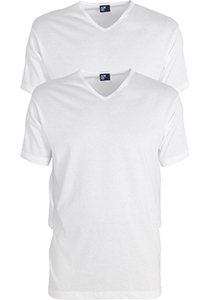 ALAN RED T-shirts Vermont extra lang (2-pack), V-hals, wit