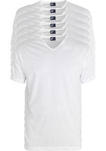 ALAN RED T-shirts Vermont extra lang (6-pack), V-hals, wit