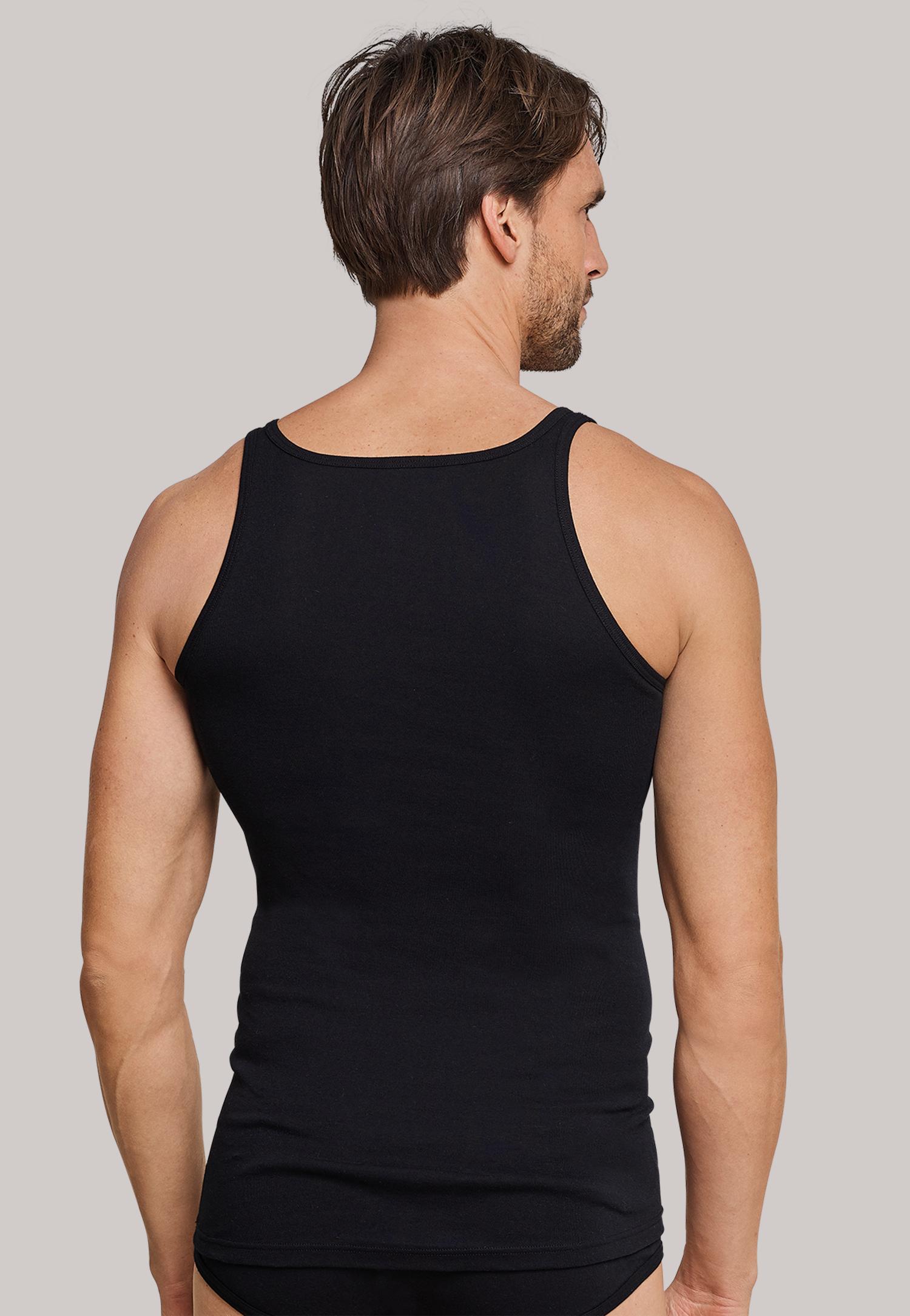 0d616ac0107 ... Singlet zwart Schiesser Original Feinripp, heren ondergoed, Singlet  zwart