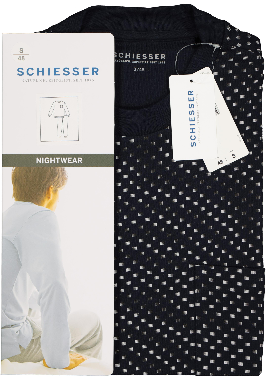 3f07a1bd50a Schiesser heren pyjama, blauw dessin- Gratis verzending