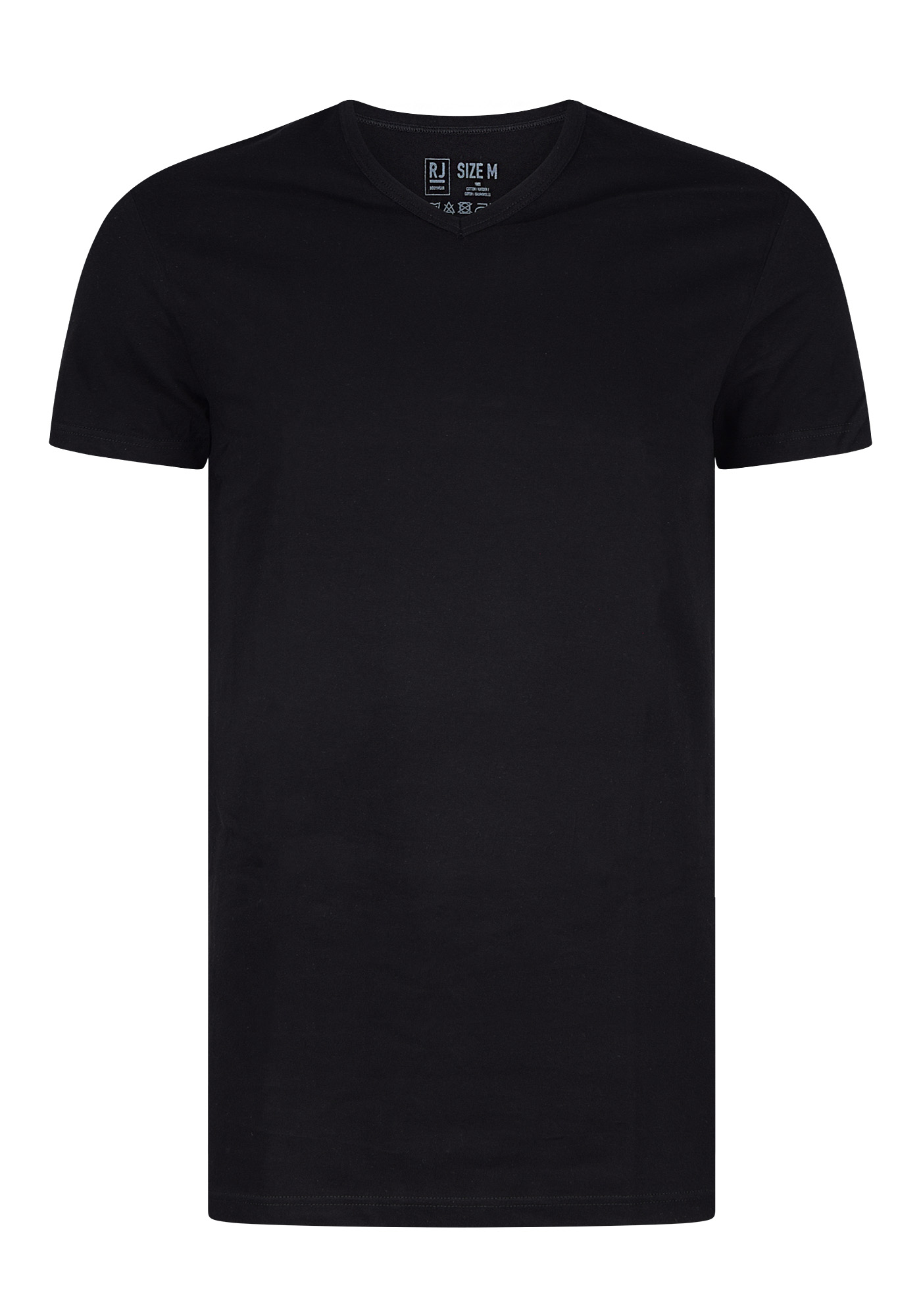 096e184606b RJ Bodywear Everyday, Gouda, 2-pack, T-shirt V-hals smal, zwart ...