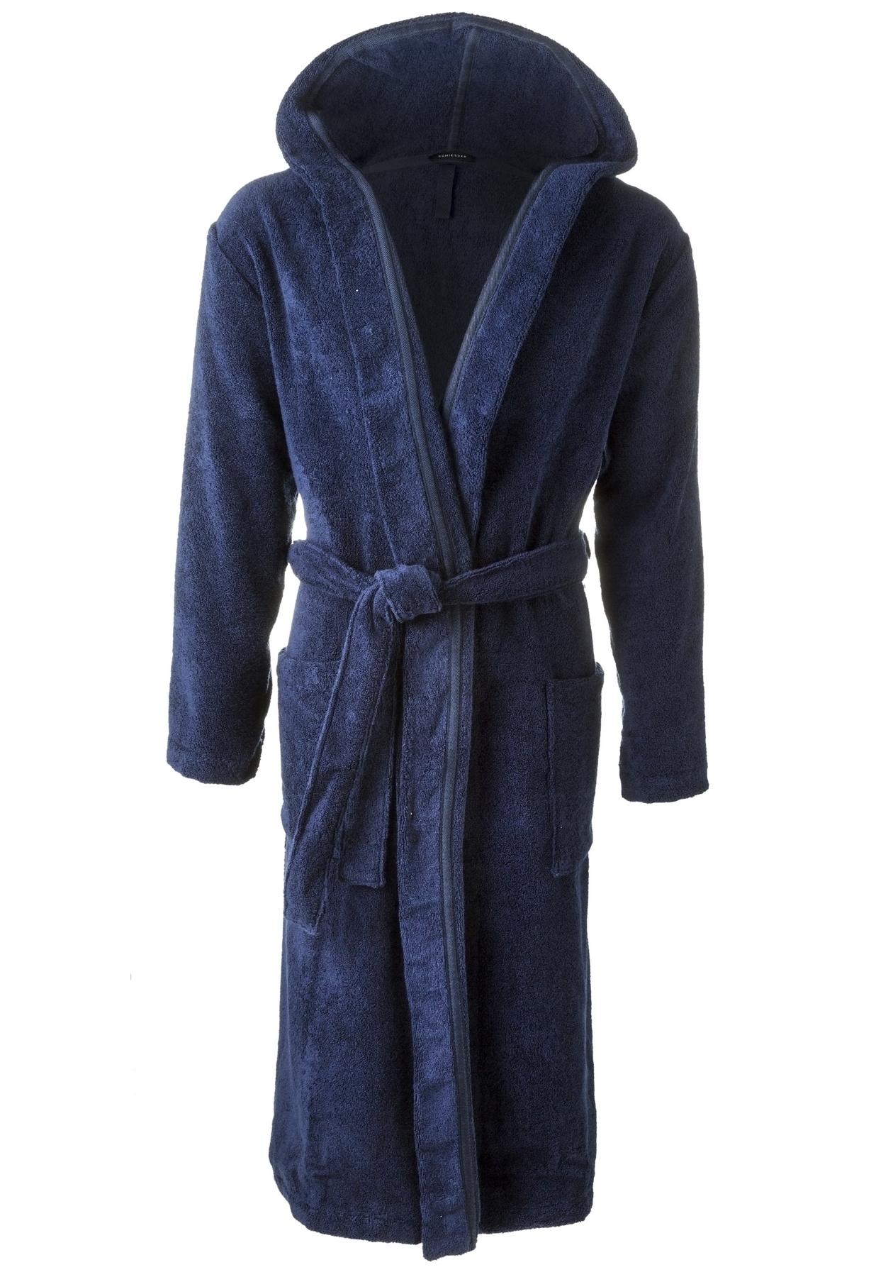 d23f98680c0 Schiesser heren badjas, blauw - Gratis verzending