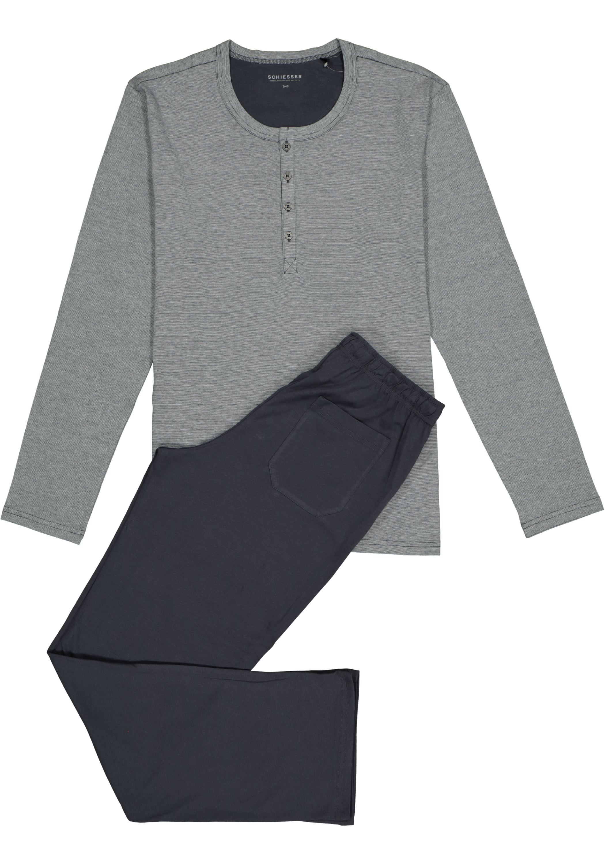 3e66287538a Schiesser heren pyjama, grijs - Gratis verzending