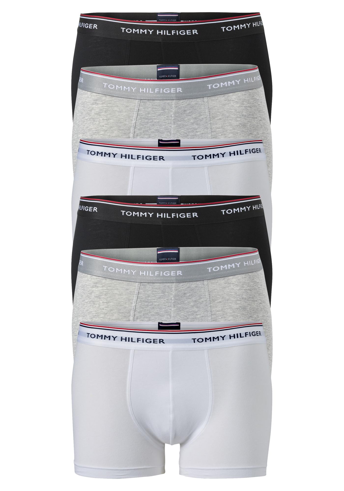 Actie 6 pack: Tommy Hilfiger boxershorts, zwart wit en