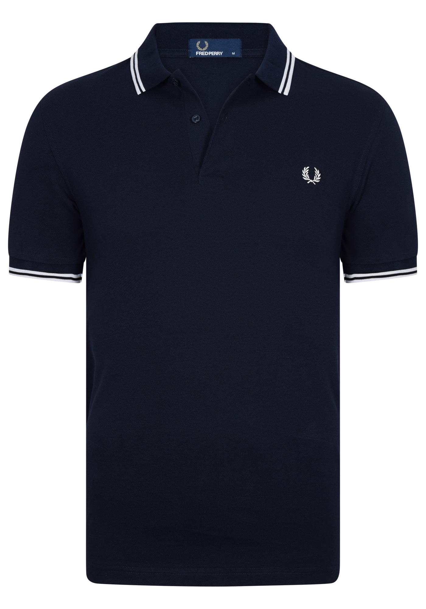 Fred Perry M3600 shirt, polo Navy White White Gratis