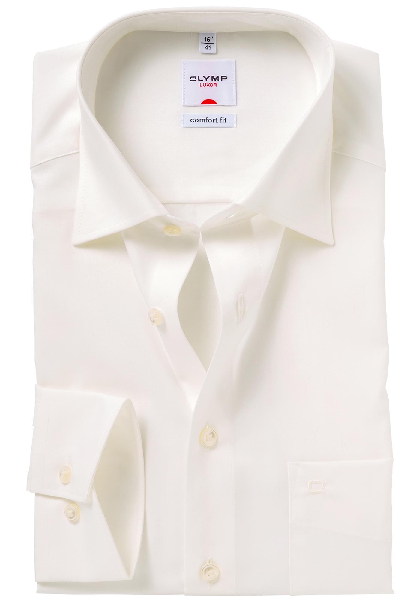 Overhemd Creme.Olymp Comfort Fit Overhemd Creme Gratis Bezorgd