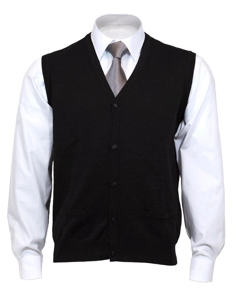 OLYMP mouwloos heren vest wol, V-hals, zwart - Gratis bezorgd: https://www.hemdvoorhem.nl/olymp-mouwloos-heren-vest-v-hals-zwart