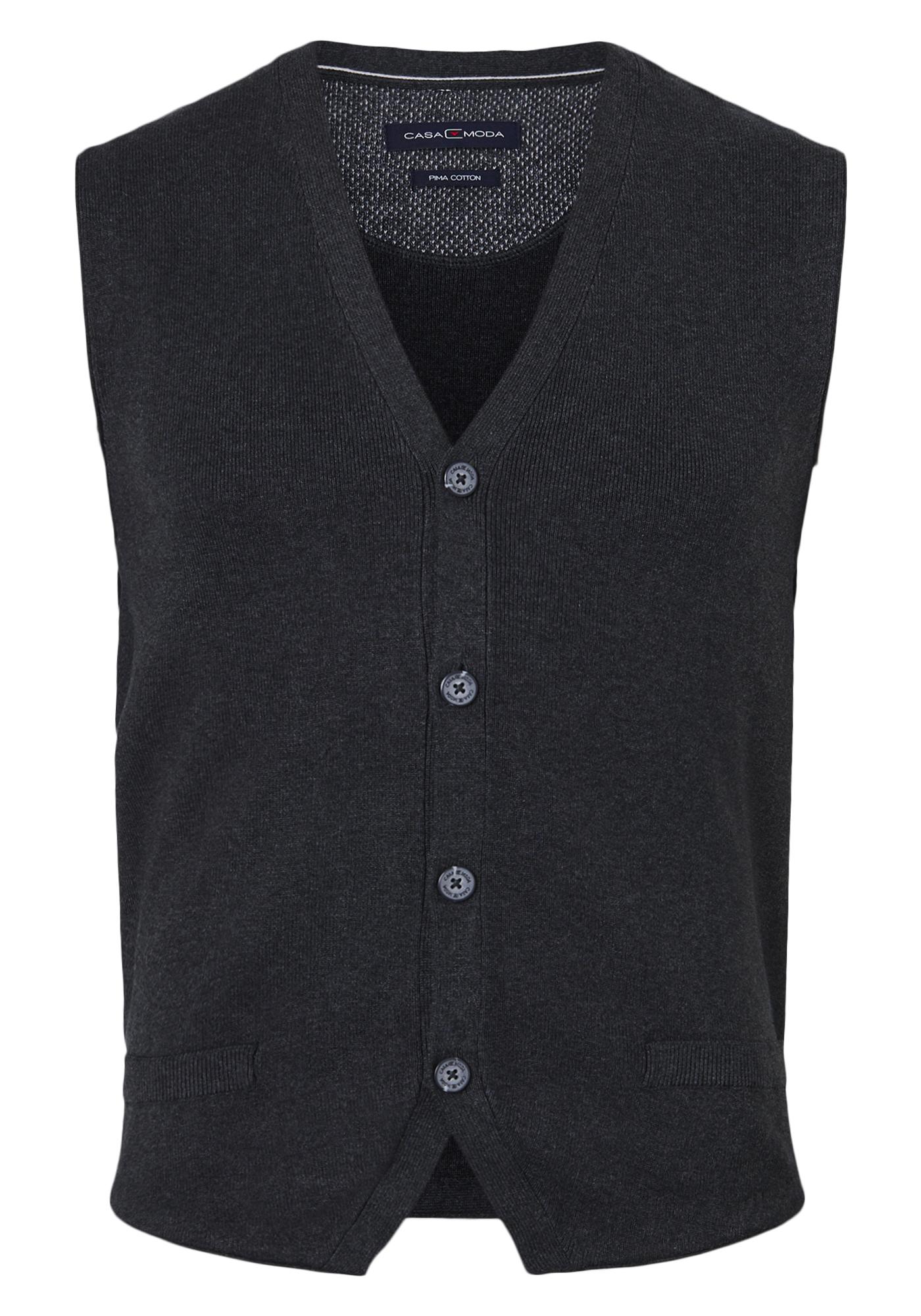 goedkope prijs gedetailleerde foto's designer mode Casa Moda mouwloos heren vest, antraciet - Nieuwe collectie ...