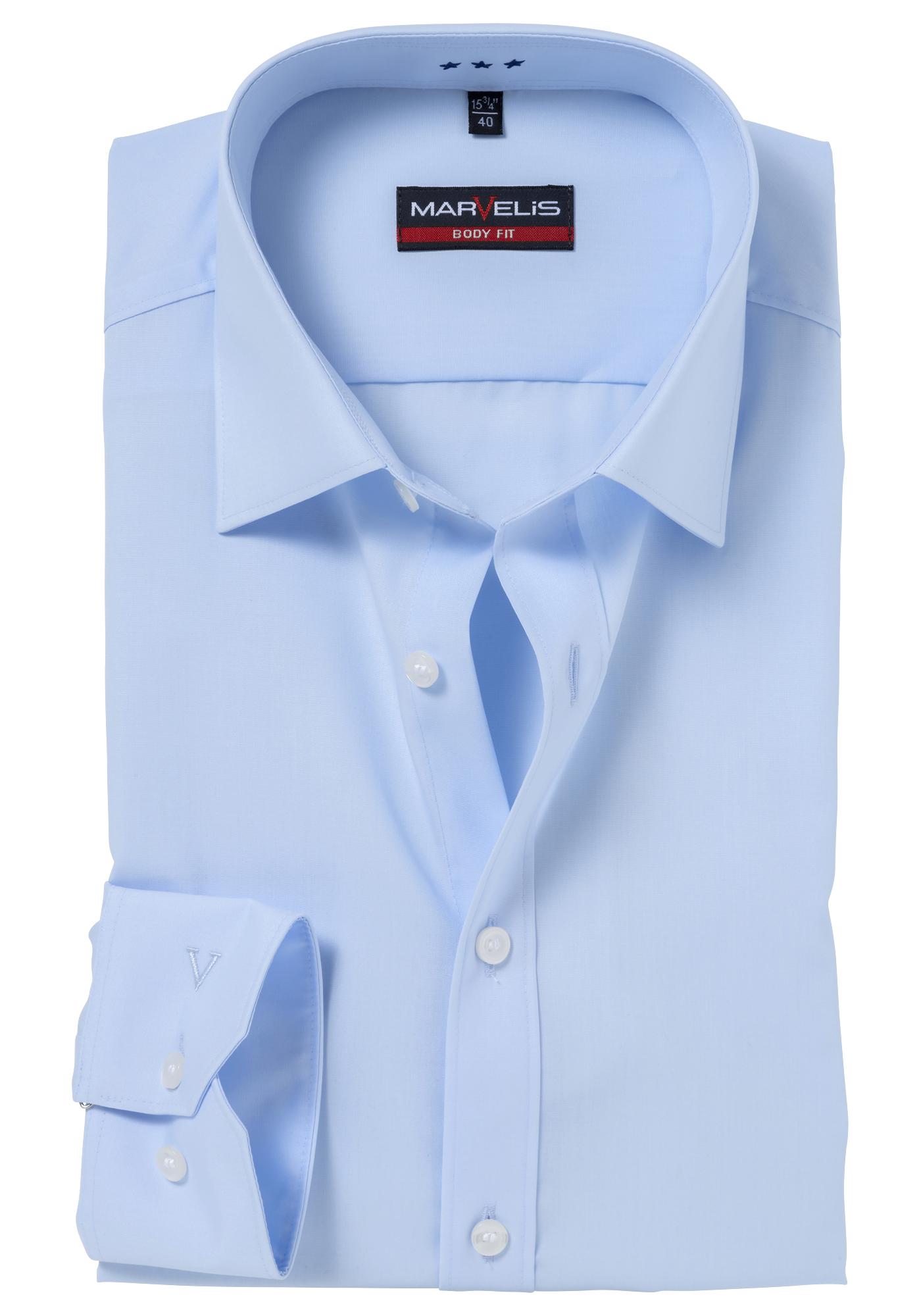 marvelis body fit overhemd mouwlengte 7 lichtblauw gratis verzending. Black Bedroom Furniture Sets. Home Design Ideas