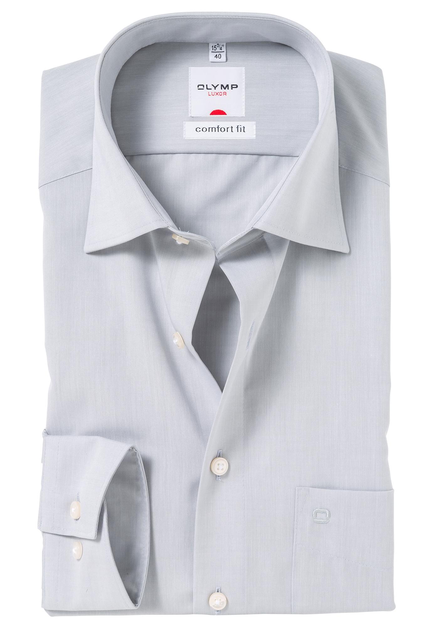 Grijs Overhemd Heren.Olymp Comfort Fit Overhemd Grijs Gratis Bezorgd