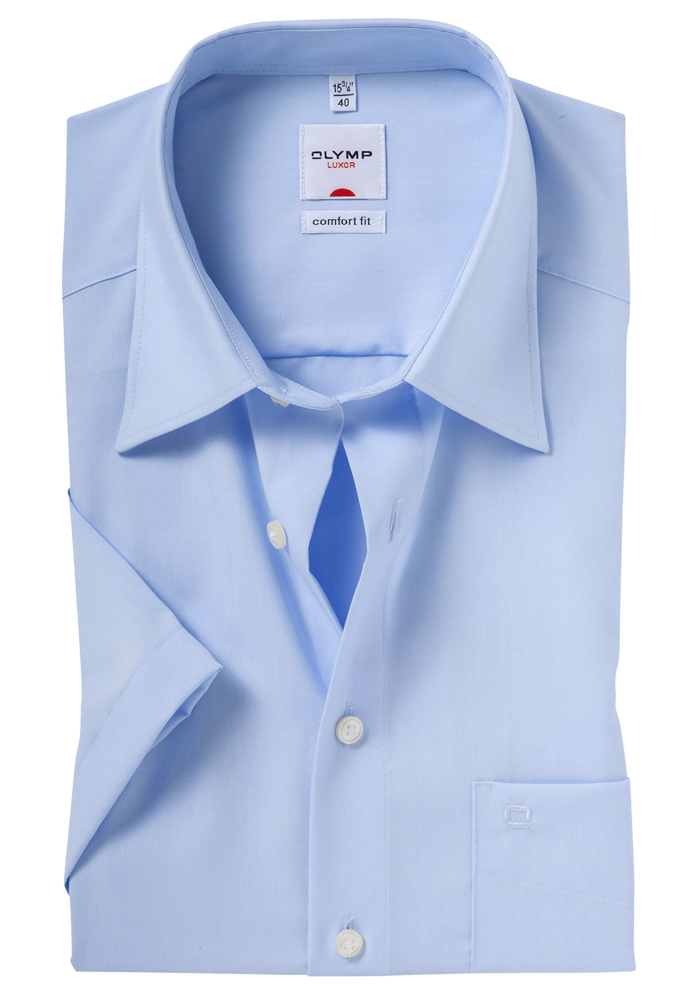 overhemd olymp comfort fit korte mouw blauw gratis bezorgd. Black Bedroom Furniture Sets. Home Design Ideas