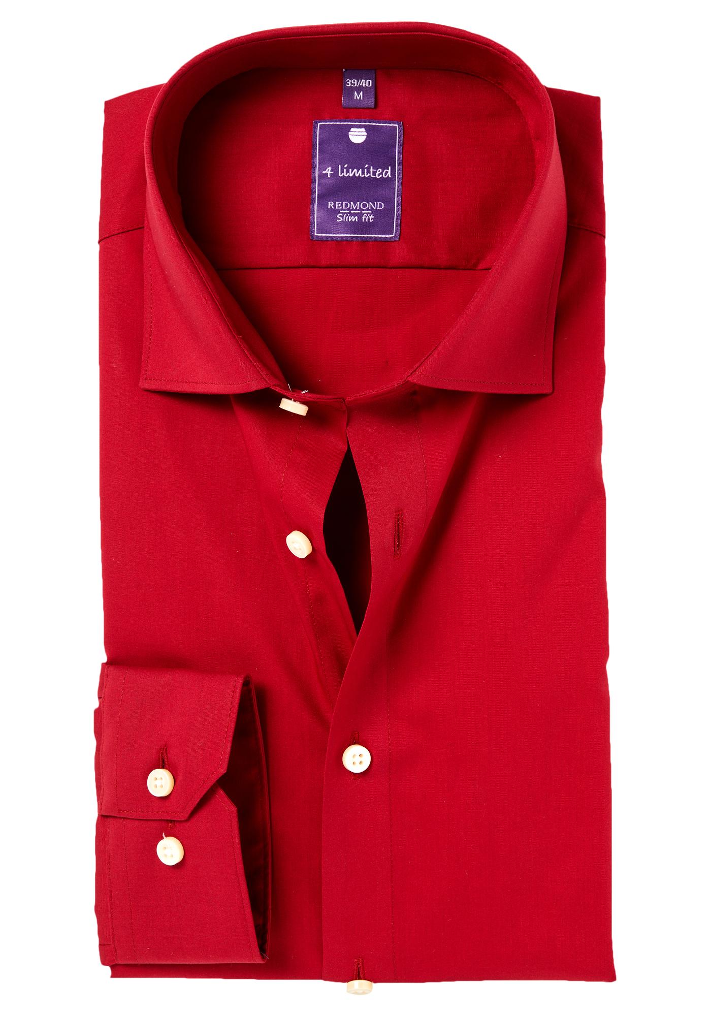 Rood Overhemd Slim Fit.Redmond Slim Fit Overhemd Rood Vakantiedeals