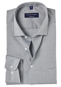 Casa Moda Comfort Fit overhemd, mouwlengte 7, grijs