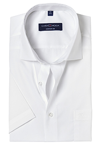 Casa Moda Comfort Fit, overhemd korte mouw, wit