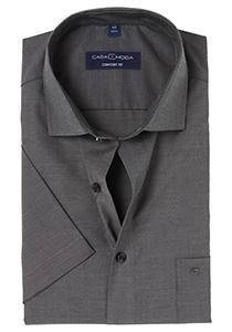 Casa Moda Comfort Fit, overhemd korte mouw, antraciet