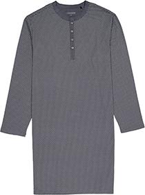 Schiesser heren nachthemd, antraciet gestipt