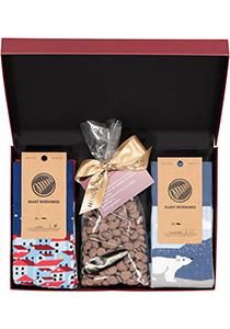 Hot Chocolade cadeauset Many Mornings sokken met warme chocolademelk, Winterpret