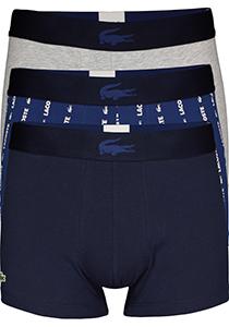 Lacoste heren boxershorts (3-pack), blauw, navy en grijs