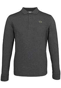 Lacoste Sport polo lange mouwen Regular Fit, grijs melange (ultra lightweight knit)