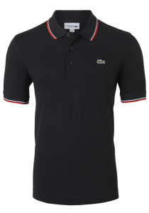 Lacoste Sport polo Regular Fit, zwart, ultra lightweight knit