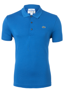 Lacoste Sport polo Slim Fit, blauw/groen, Mariniere (ultra lightweight knit)