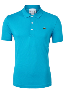 Lacoste Sport polo Slim Fit, donker turquoise, Cuba (ultra lightweight knit)