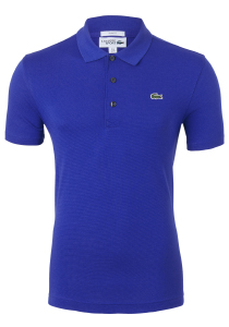 Lacoste Sport polo Slim Fit, blauw/paars, Cosmique (ultra lightweight knit)