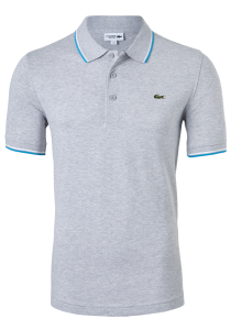 Lacoste Sport polo Regular Fit, grijs melange, ultra lightweight knit