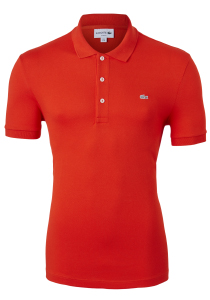 Lacoste stretch Slim Fit polo, Corrida rood (extra getailleerd)