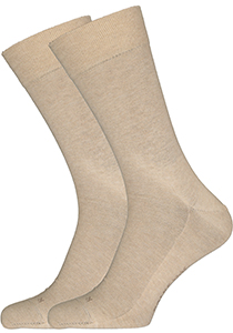 Falke Sensitive London herensokken, beige melange