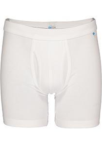 Schiesser Long Life Cotton boxershort (lang met gulp), wit