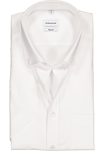 Seidensticker Regular Fit overhemd korte mouw, wit (button down)