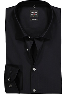 OLYMP Level 5 overhemd, mouwlengte 7, zwart