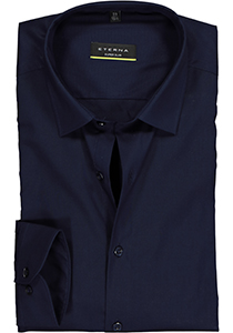Eterna, Super Slim Fit Stretch overhemd, donkerblauw