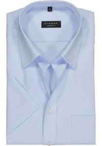 Eterna Comfort Fit overhemd, korte mouw, blauw